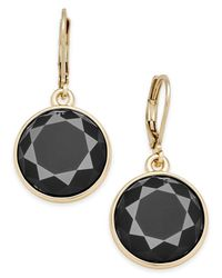 Charter Club | Black Gold-tone Colored Stone Drop Earrings | Lyst