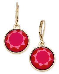 Charter Club   Gold-tone Colored Stone Drop Earrings   Lyst