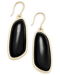 Charter Club | Black Gold-tone Colored Shell Drop Earrings | Lyst