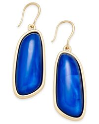 Charter Club | Blue Gold-tone Colored Shell Drop Earrings | Lyst
