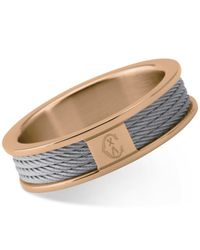 Charriol - Multicolor Women's Forever Two-tone Pvd Stainless Steel Cable Ring 02-102-1139-8 - Lyst