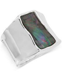 Robert Lee Morris | Metallic Silver-tone Colored Stone Sculptural Bangle Bracelet | Lyst