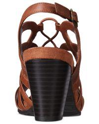 Easy Street - Brown Admire Sandals - Lyst