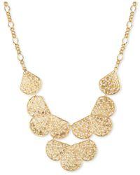 2028 | Metallic Gold-tone Filigree Fan Bib Necklace | Lyst
