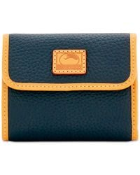Dooney & Bourke | Blue Patterson Small Credit Card Flap Wallet | Lyst