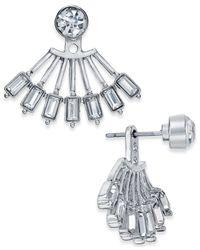 INC International Concepts | Metallic Crystal Fan Ear Jacket Earrings | Lyst