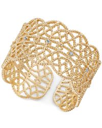 INC International Concepts   Metallic Crystal-studded Filigree Ring   Lyst
