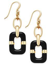 Charter Club - Black Link Drop Earrings - Lyst