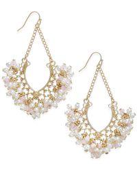 INC International Concepts | Metallic Gold-tone Imitation Pearl Multi-bead Chandelier Earrings | Lyst