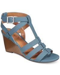 Style & Co. Blue Haydar Wedge Sandals