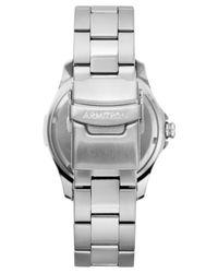 Armitron Metallic Men's Stainless Steel Bracelet Watch 42mm 20-4677blsv for men