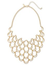 INC International Concepts | Metallic Gold-tone Scalloped Statement Necklace | Lyst