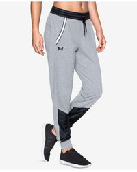 Under Armour | Gray Fleece Warm-up Pants | Lyst