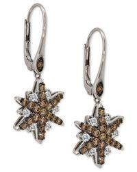 Le Vian | Metallic Diamond Starfish Drop Earrings (1-1/3 Ct. T.w.) In 14k White Gold | Lyst