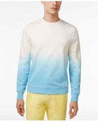 Tommy Hilfiger - Blue Men's Lucas Cotton Ombré Colorblock Shirt for Men - Lyst