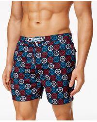 Original Penguin | Blue Men's Circle Logo Fixed Swim Trunks for Men | Lyst