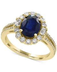 Effy Collection - Blue Sapphire (1-9/10 Ct. T.w.) And Diamond (5/8 Ct. T.w.) Ring In 14k Gold - Lyst