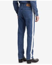 Calvin Klein Blue High Waist Straight Tapered Fit Jeans for men