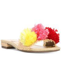 Circus by Sam Edelman | Pink Daytona Pom Pom Sandals | Lyst
