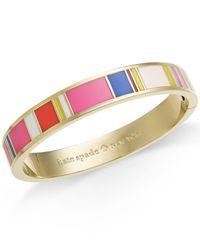 kate spade new york | Multicolor Gold-tone Multi-color Enamel Hinged Bangle Bracelet | Lyst