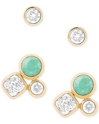 Michael Kors | Green 2-pc. Set Crystal And Colored Stone Stud Earrings | Lyst