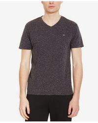 Kenneth Cole Reaction - Gray Men's Heathered V-neck T-shirt for Men - Lyst