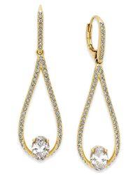 Danori | Metallic Gold-tone Pavé And Crystal Teardrop Drop Earrings | Lyst