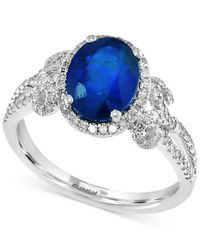 Effy Collection - Multicolor Sapphire (1-9/10 Ct. T.w.) And Diamond (3/8 Ct. T.w.) Ring In 14k White Gold - Lyst