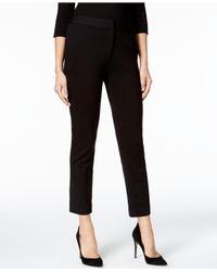 Catherine Malandrino   Black Slim-fit Ankle Pants   Lyst