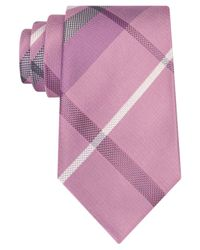 Kenneth Cole Reaction | Pink Men's Seagull Plaid Tie for Men | Lyst