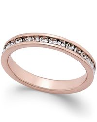 Giani Bernini | Metallic Cubic Zirconia Pavé Ring In 18k Rose Gold-plated Sterling Silver | Lyst
