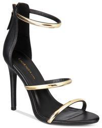 Bebe | Black Berdine Ankle-strap Dress Sandals | Lyst
