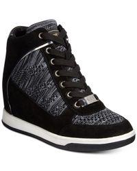Bebe | Black Sport Cheree Wedge Sneakers | Lyst