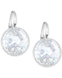 Swarovski - Metallic Crystal Button Earrings - Lyst