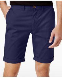 Ben Sherman   Blue Men's Slim-fit Stretch Chino Shorts for Men   Lyst