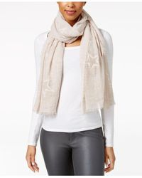 Steve Madden - White Subtle Star Embroidered Wrap - Lyst