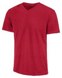 Alfani Red Slim Fitted V-neck T-shirt for men