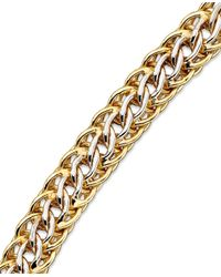 Macy's | Metallic Mesh Bracelet In 14k Gold Over Sterling Silver And Sterling Silver | Lyst