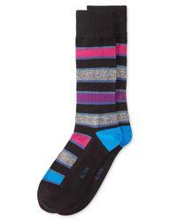 Alfani   Blue Men's Cubist Grid Socks for Men   Lyst