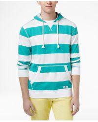 Tommy Hilfiger Green Men's Surf Wide-striped Cotton Hoodie for men