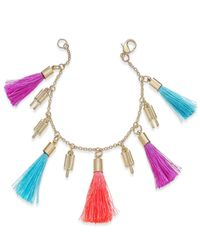 INC International Concepts - Metallic Gold-tone Popsicle And Tassel Charm Bracelet - Lyst