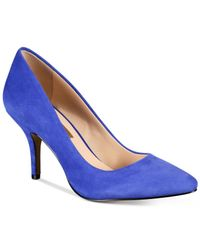 INC International Concepts | Blue Womens Zitah Pointed Toe Pumps, Only At Macy's | Lyst