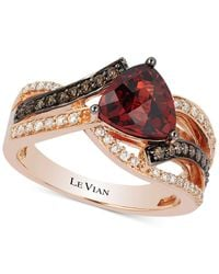 Le Vian - Red Pomegranate Garnettm (2-1/10 Ct. T.w.) And Diamond (3/8 Ct. T.w.) Ring In 14k Rose Gold - Lyst
