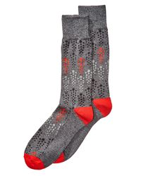 Perry Ellis | Black Men's Heathered Geo-dot Dress Socks for Men | Lyst