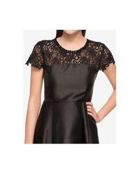 Jessica Simpson | Black Embellished Lace-yoke Fit & Flare Dress | Lyst