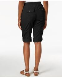 Style & Co. Black Drawstring Cargo Shorts, Created For Macy's