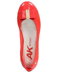 Anne Klein Red Womens Aricia Closed Toe Slide Flats