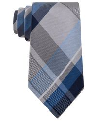 Geoffrey Beene | Blue Men's Far And Wide Classic Plaid Tie for Men | Lyst