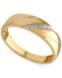 Beautiful Beginnings - Metallic Men's Diamond Accent Ring In 14k Gold for Men - Lyst