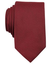 Perry Ellis Red Dolby Solid Slim Tie for men